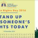 """Human Rights Day 2016: """"Stand up for someone's rights today"""""""