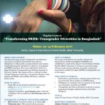 Flagship course on Transgender Diversities in Bangladesh announced