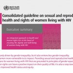 WHO: New guideline on SRHR of women living with HIV