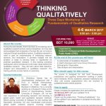Workshop: THINKING QUALITATIVELY