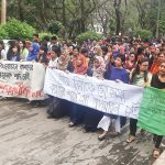 Sexual harassment on female student protested