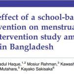 School Based Intervention on Menstrual Hygiene works