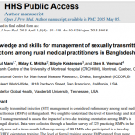 Knowledge and skills for management of sexually transmitted infections among rural medical practitioners in Bangladesh