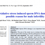 Oxidative stress induced sperm DNA damage, a possible reason for male infertility