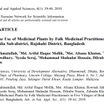 A Survey on the Use of Medicinal Plants by Folk Medicinal Practitioners in Five Villages of Boalia Sub-district, Rajshahi District, Bangladesh