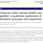 Contracting-out urban primary health care in Bangladesh: a qualitative exploration of implementation processes and experience