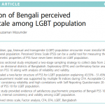 Validation of Bengali perceived stress scale among LGBT population