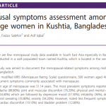 Menopausal symptoms assessment among middle age women in Kushtia, Bangladesh