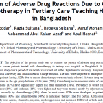 Pattern of Adverse Drug Reactions Due to Cancer Chemotherapy in Tertiary Care Teaching Hospital in Bangladesh