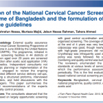 Evaluation of the National Cervical Cancer Screening Programme of Bangladesh and the formulation of quality assurance guidelines