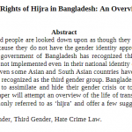 The Rights of Hijras in Bangladesh: An Overview