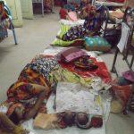 Women, newborns stay on floor as beds scanty