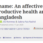 Experiencing shame: An affective reading of the sexual and reproductive health and rights classroom in Bangladesh