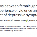 The pathways between female garment workers' experience of violence and development of depressive symptoms