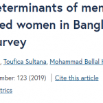 Prevalence and determinants of menstrual regulation among ever-married women in Bangladesh: evidence from a national survey