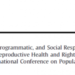 The Political, Research, Programmatic, and Social Responses to Adolescent Sexual and Reproductive Health and Rights in the 25 Years Since the International Conference on Population and Development