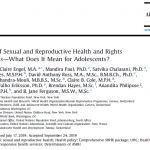 A Package of Sexual and Reproductive Health and Rights Interventions and What Does It Mean for Adolescents?