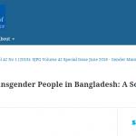 Status of Transgender People in Bangladesh: A Socio-economic-Analysis