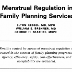 Menstrual Regulation in Family Planning Services