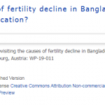Revisiting the causes of fertility decline in Bangladesh: Family planning program or female education?