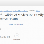 Gendered Politics of Modernity: Family Planning and Reproductive Health