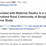 Factors Associated with Maternal Deaths in a Hard-To-Reach Marginalized Rural Community of Bangladesh: A Cross-Sectional Study