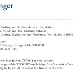 Duration of Breastfeeding and Its Correlates in Bangladesh