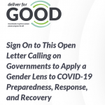 Tell all leaders to apply a gender lens to COVID-19