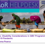 Disability Considerations in GBV Programming during the COVID-19 Pandemic