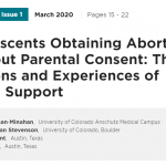 Adolescents Obtaining Abortion Without Parental Consent: Their Reasons and Experiences of Social Support