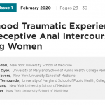 Childhood Traumatic Experiences and Receptive Anal Intercourse Among Women