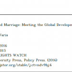 Ending Child Marriage: Meeting the Global Development Goals' Promise toGirls