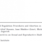 The Incidence of Menstrual Regulation Procedures and Abortion in Bangladesh