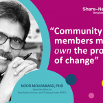 """Community members must own the process of change"" says Dr Noor Mohammad, Executive Director, PSTC"