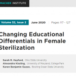 Changing Educational Differentials in Female Sterilization