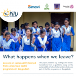 Fact Sheet on RITU: To improve Menstrual Health of Adolescent Girls