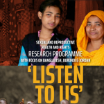 Infographic and SRHR Programme booklet by NWO-WOTRO SRHR Research Programme