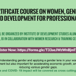 Online Certificate Course on 'Women, Gender and Development Training for Professionals'